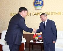 БХБ-ын сайд Х.Баделхан Элчин сайд Шин Хайминыг хүлээн авч уулзлаа