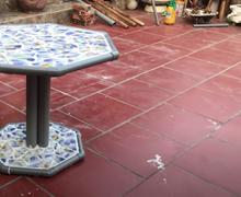 Цемент болон ус дамжуулах хоолой ашиглан кофены ширээ хийцгээе