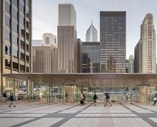 """""""Macbook"""" хэлбэрийн дээвэртэй Apple-ийн шинэ дэлгүүр Чикаго хотыг чимж байна"""