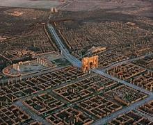 Орчин үеийн шийдэлтэй эртний Ромын хот