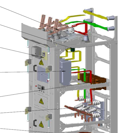 6,10кВ-ын КСО14 загварын эрчим хүчний хуваарилах хорго