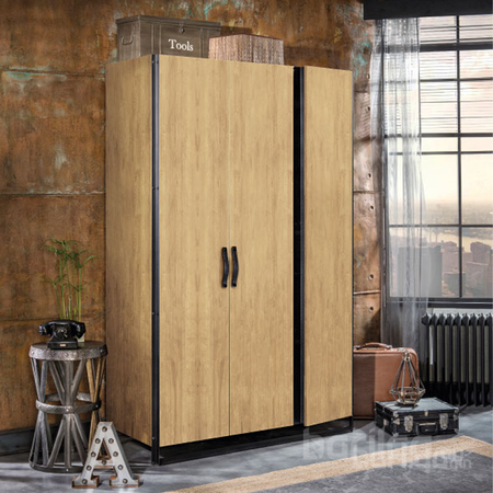 Wood metal - 3 хаалгатай шкаф