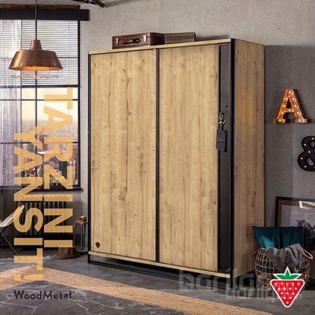 Wood metal - Гүйдэг хаалгатай шкаф