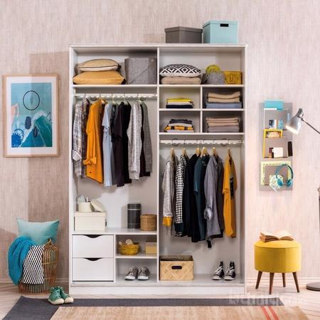 White - Гүйдэг хаалгатай шкаф