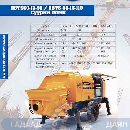 HBTS 60-13-90 \ HBTS 80-16-110  СУУРИН ПОМП
