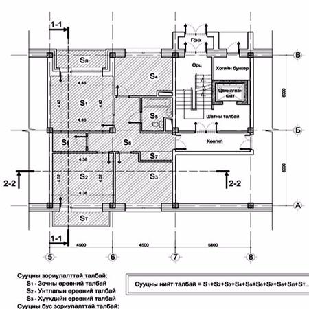 Оффис, орон сууцны талбайн хэмжээ тодорхойлох