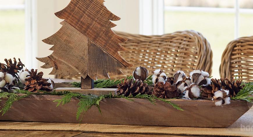 Модон материалаар шинэ жилийн гацуур болон чимэглэл хийх санаанууд
